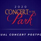 Virtual Concert in the Park Postponed